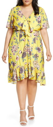 Maree Pour Toi Floral Print Ruffle Dress