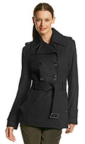 Kenneth Cole Double-Breasted Belted Trench Jacket