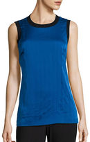 DKNY Sleeveless Stretch Silk Blouse