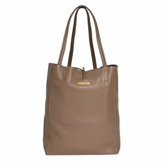 Betsy & Floss Soft Leather Tote Bag In Dark Taupe