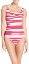 Tommy Bahama Sportif Stripe One-Piece Swimsuit