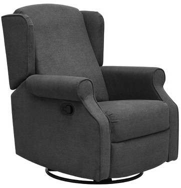 """Thumbnail for your product : Winston Porter Collen 26.4"""" Wide Manual Swivel Ergonomic Recliner"""