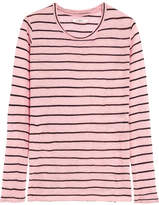 Etoile Isabel Marant Striped Slub Linen-blend Jersey Top - Baby pink