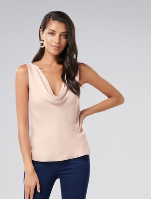 Forever New Clara Cowl Neck Top - Blush - 6