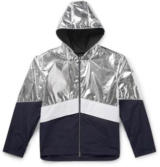 Moncler Quinic Hooded Metallic Colour-Block Shell Jacket - Men - Silver