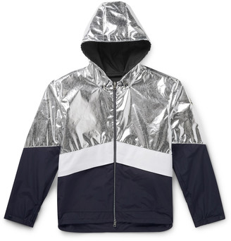 Moncler Quinic Hooded Metallic Colour-Block Shell Jacket