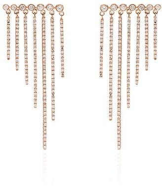 Shay Fringed Rose Gold Earrings