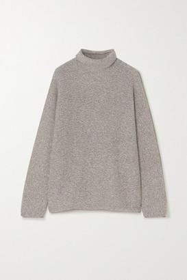 LAUREN MANOOGIAN Alpaca And Organic Cotton-blend Turtleneck Sweater - Gray