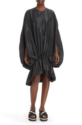 Simone Rocha Cape Sleeve Taffeta Bubble Dress