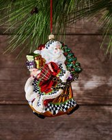 Mackenzie Childs MacKenzie-Childs Dashing Santa Glass Ornament