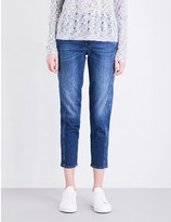 Closed Cropped high-rise broken-stitch jeans