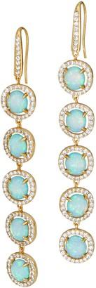 Melinda Maria Five Stone Drop Earrings - Demi