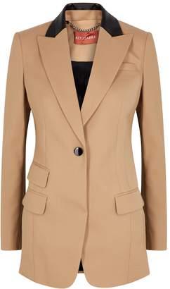 Altuzarra Hirst Leather-timmed Wool Blazer
