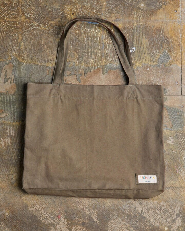Thumbnail for your product : Uskees - The 4001 Large Organic Tote Bag - Khaki