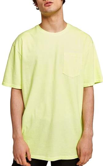 Topman Oversize Acid Wash Pocket T-Shirt
