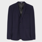 Paul Smith Men's Slim-Fit Navy And Red Pin-Dot Wool Blazer