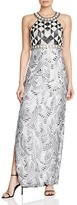 Sue Wong Sleeveless Embellished Gown