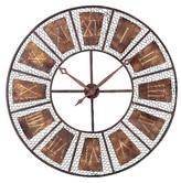 Lazy Susan Wooden Outdoor Decorative Clock