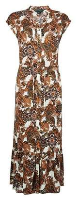 Dorothy Perkins Womens Multi Colour Paisley Print Drawstring Waist Shirt Dress