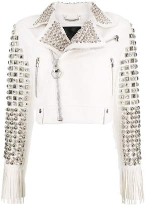 Philipp Plein Cowboy leather jacket