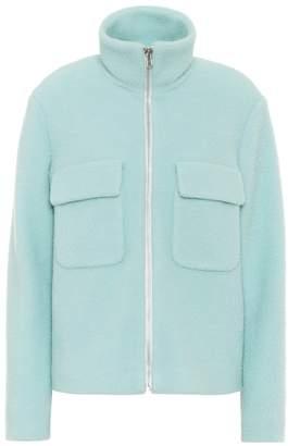 Helmut Lang Wool-blend funnel-neck jacket