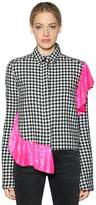 Filles a papa Sequined Ruffle Gingham Shirt