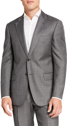 Emporio Armani Men's Sharkskin Two-Piece Wool Suit
