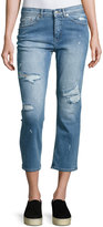 Cheap Monday Level Distressed Cropped Jeans, Blue