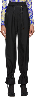 ANDERSSON BELL Black Katina Ankle String Trousers