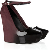 Theyskens' Theory Patent-leather and suede ombré wedges