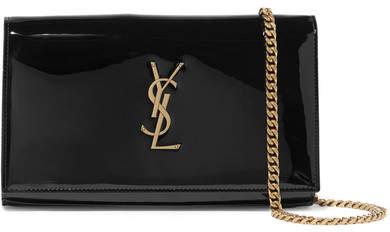 Saint Laurent Monogramme Kate Small Patent-leather Shoulder Bag - Black