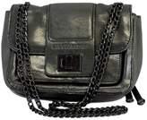BCBGMAXAZRIA Grey Metallic Sheen Small Crossbody Bag