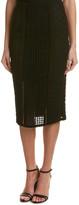 Rebecca Taylor Crochet Lace Midi Skirt