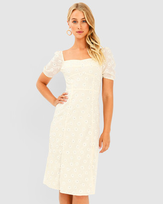 Forcast Estelle Puff Sleeve Dress