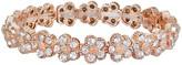 Lauren Conrad Rose Gold Toned Flower Cubic Zirconia Stretch Bracelet