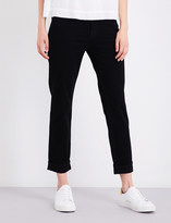 J Brand Johnny boyfriend-fit mid-rise jeans