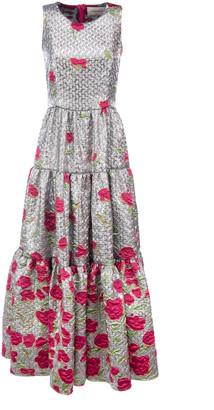 La DoubleJ Floral Cloque Dress
