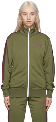Palm Angels Green College Track Jacket
