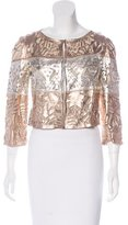 Emilio Pucci Leather Laser Cut Jacket