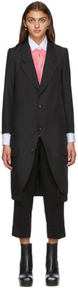 Comme des Garcons Black Gabardine Tuxedo Coat