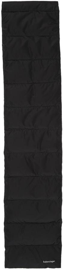 Balenciaga Black Padded Long Scarf