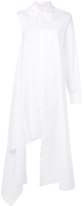 MM6 MAISON MARGIELA Asymmetric One Sleeve Shirt Dress