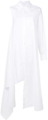 MM6 MAISON MARGIELA asymmetric one sleeve shirt dress