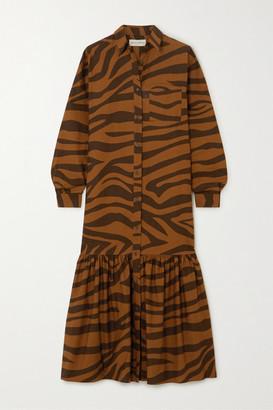 Mara Hoffman Net Sustain Freda Tiger-print Organic Cotton Maxi Dress - Brown