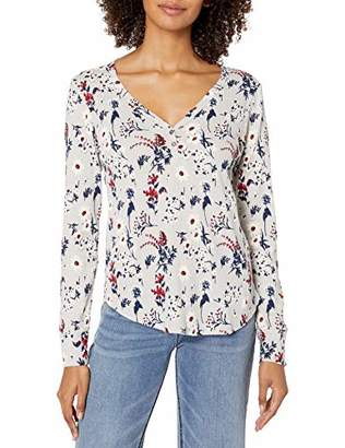 Lucky Brand Women's Allover Printed Thermal Top