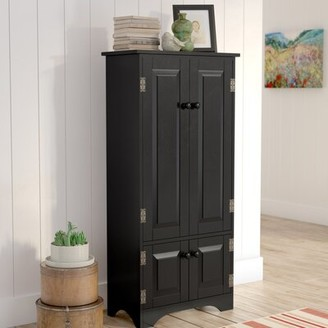 Andover Mills Abernathy 2 Door Accent Cabinet Color: Black