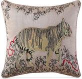 "Tracy Porter Fleur Embroidered Faux-Silk 16"" Square Decorative Pillow"