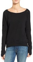Pam & Gela Women's 'Annie' Destroyed High/low Sweatshirt