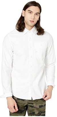 G Star G-Star Bristum One-Pocket Slim Shirt Long Sleeve (White/White) Men's Clothing