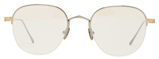 Cartier Eyewear - C De Half-rim Metal Glasses - Womens - Gold
